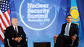 United States President Barack Obama holds bilateral meeting with President Nursultan Nazarbayev of Kazakhstan at the Blair House at the Nuclear Security Summit, Sunday, April 11, 2010 in Washington, DC..Credit: Olivier Douliery / Pool via CNP