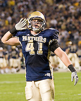 21, October, 2006: Pitt defensive lineman Chris McMillop..The Rutgers Scarlet Knights defeated the Pitt Panthers 20-10 on October 21, 2006 at Heinz Field, Pittsburgh, Pennsylvania.