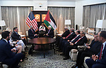 Palestinian President Mahmoud Abbas meets with U.S. Secretary of State Rex Tillerson, in Washington, United States, on May 3, 2017. Photo by Thaer Ganaim