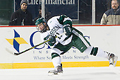 Tom Callahan (Babson - 11) - The Norwich University Cadets defeated the Babson College Beavers 4-1 on Friday, January 13, 2011, at Fenway Park in Boston, Massachusetts.