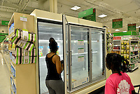 MIRAMAR, FL - OCTOBER 06: Empty Ice shelve inside at Publix supermarket in Miramar, Florida in preparation for the landfall of Hurricane Matthew on October 6, 2016 in Miramar, Florida. The hurricane is expected to make landfall sometime this evening or early in the morning as a possible category 4 storm.Credit: MPI10 / MediaPunch