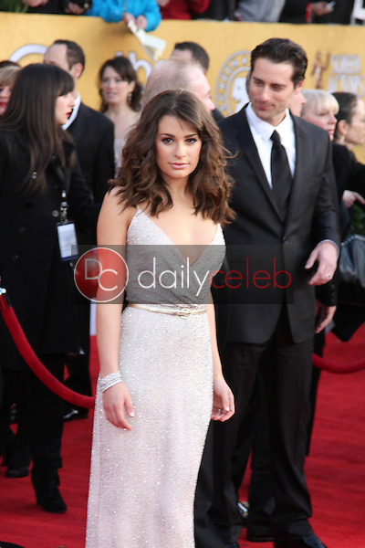 LOS ANGELES - JAN 30:  Lea Michele arrives at the 2011 Screen Actors Guild Awards  at Shrine Auditorium on January 30, 2011 in Los Angeles, CA