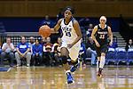 03 December 2015: Duke's Kyra Lambert. The Duke University Blue Devils hosted the University of Minnesota Golden Gophers at Cameron Indoor Stadium in Durham, North Carolina in a 2015-16 NCAA Division I Women's Basketball game. Duke won the game 84-64.