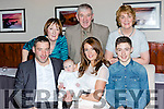 Tyler McSweeney, Kilcummin celebrates his christening with his parents Shane and Doreen and big brother Dean in the Killarney Heights Hotel on Saturday back row: Liz Bradley, John and Noreen McSweeney
