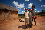 Daughters of traditional silk weavers in the central highlands of Madagascar.