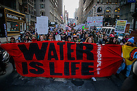 NEW YORK, USA - MARCH 4, Protesters take part in a  march to Trump Tower on March 4 , 2017 in New York.  VIEWpress/Eduardo MunozAlvarez