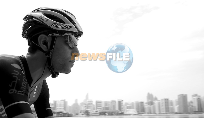 Vincenzo Nibali (ITA) Bahrain-Merida at sign on before the start of Stage 2 the Nation Towers Stage of the 2017 Abu Dhabi Tour, running 153km around the city of Abu Dhabi, Abu Dhabi. 24th February 2017<br />