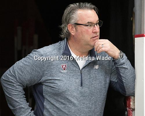 John O'Donnell (Harvard - Equipment Manager) - The Harvard University Crimson defeated the visiting Boston College Eagles 5-2 on Friday, November 18, 2016, at the Bright-Landry Hockey Center in Boston, Massachusetts.