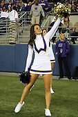 Sept 01, 2012:  Washington cheerleader Kristina Koumaeva against San Diego State.  Washington defeated San Diego State 21-12 at CenturyLink Field in Seattle, Washington...