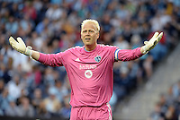 Jimmy  Nielsen goalkeeper Sporting KC.<br /> Montreal Impact defeated Sporting Kansas City 2-1 at Sporting Park, Kansas City, Kansas.