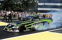 Jun. 3, 2012; Englishtown, NJ, USA: NHRA funny car driver Alexis DeJoria during the Supernationals at Raceway Park. Mandatory Credit: Mark J. Rebilas-