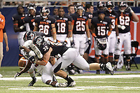 SAN ANTONIO, TX - SEPTEMBER 22, 2012: The Northwestern Oklahoma State University Rangers versus The University of Texas at San Antonio Roadrunners Football at the Alamodome. (Photo by Jeff Huehn)