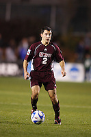 University of Massachusetts Minutemen midfielder Daniel Lepone (2) during an NCAA College Cup semi-final match at SAS Stadium in Cary, NC on December 14, 2007. Ohio State defeated Massachusetts 1-0.