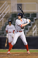David Martinelli (31) of the Lakewood BlueClaws at bat against the Kannapolis Intimidators at Kannapolis Intimidators Stadium on April 8, 2017 in Kannapolis, North Carolina.  The BlueClaws defeated the Intimidators 8-4 in 10 innings.  (Brian Westerholt/Four Seam Images)