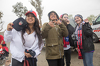 SAN JOSE, CA - March 24, 2017: US Soccer fans at an American Outlaws tailgate before the CONCACAF World Cup Qualifier game between the USA and Honduras at Avaya Stadium.