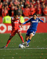 26 April 2009: Toronto FC midfielder Amado Guevara #20 and Kansas City Wizards midfielder Santiago Hirsig #10 in action during an MLS game between Kansas City Wizards and Toronto FC.Toronto FC won 1-0. .