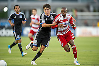 SANTA CLARA, CA - July 18, 2012: San Jose Earthquakes vs  FC Dallas match at the Buck Shaw Stadium in Santa Clara, California. Final score San Jose Earthquakes 2, FC Dallas 1.