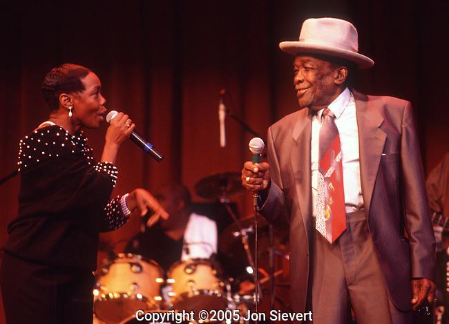 with daughter Zakiya Hooker.Hooker's 50th Anniversary Show.10/30/98