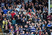 Bath Rugby supporters in the crowd celebrate a try. European Rugby Challenge Cup Quarter Final, between Bath Rugby and CA Brive on April 1, 2017 at the Recreation Ground in Bath, England. Photo by: Patrick Khachfe / Onside Images