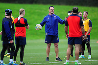 Bath Rugby Head Coach Tabai Matson speaks to his players. Bath Rugby training session on November 22, 2016 at Farleigh House in Bath, England. Photo by: Patrick Khachfe / Onside Images