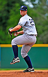 18 July 2010: Staten Island Yankees pitcher Mike Gipson on the mound against the Vermont Lake Monsters at Centennial Field in Burlington, Vermont. The Lake Monsters fell to the Yankees 9-5 in NY Penn League action. Mandatory Credit: Ed Wolfstein Photo
