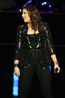 03/27/12 Los Angeles, CA: Charles Kelley, Hillary Scott and Dave Haywood of Lady Antebellum perform at Staples Center during their Own the Night 2012 World Tour