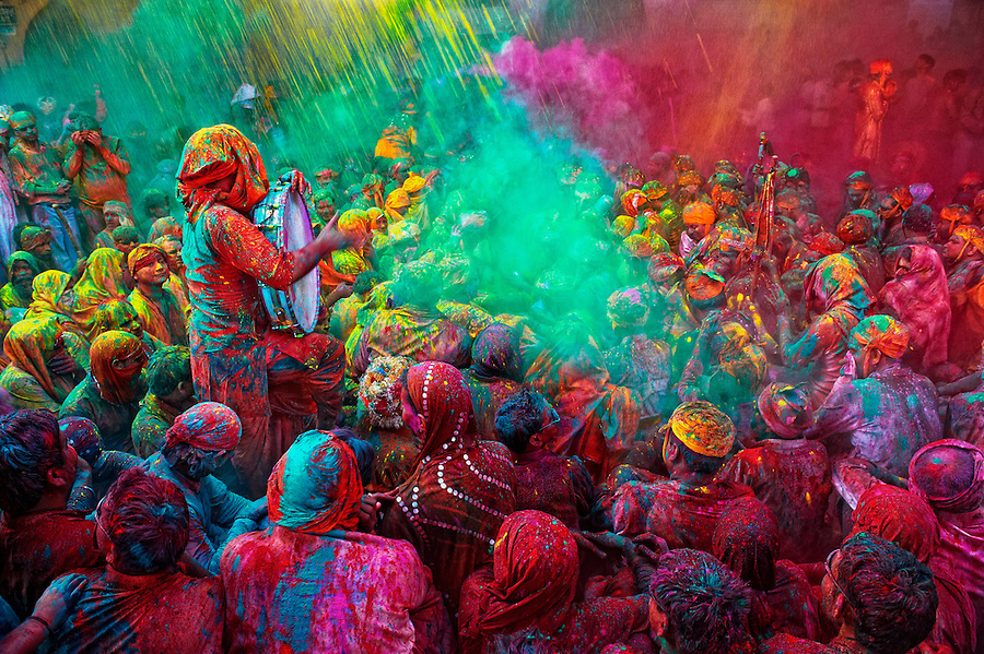 The festival of Holi is a religious festival. People sing bhajans of Radha and Lord Krishna on this day and it marks the beginning of Spring Season in india.<br />