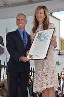 LOS ANGELES, CA. October 17, 2016: Mitch O'Farrell &amp; Allison Janney at the Hollywood Walk of Fame Star ceremony honoring actress Allison Janney.<br /> Picture: Paul Smith/Featureflash/SilverHub 0208 004 5359/ 07711 972644 Editors@silverhubmedia.com