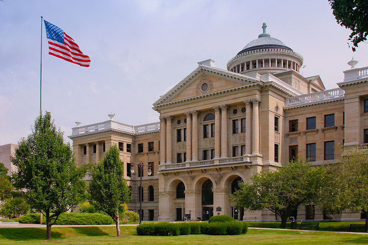The Lucas County Courthouse in Toledo, Ohio.