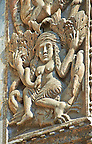"13th century Medieval Romanesque Sculptures from the facade of St Mark's Basilica, Venice, depicting ""Lust""."