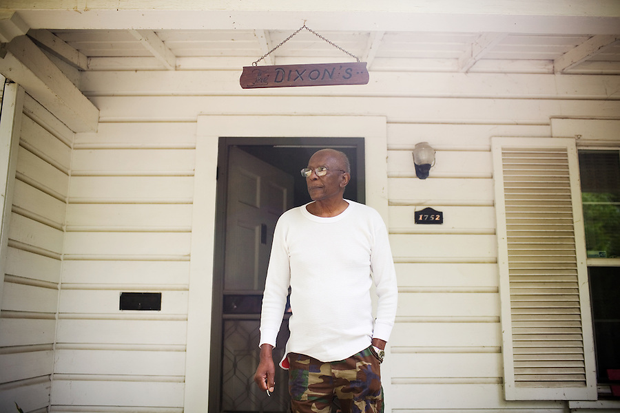 Robert Dixon, Sr., outside his home, in Stockton, Ca., on Saturday, May 14, 2011. His son, Robert Dixon, Jr., who was denied parole after a psychological evaluation deemed him a psychopath despite transforming his life through completing education courses and self-improvement seminars.