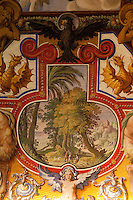 A ceiling fresco in the Vatican Museums (Musei Vaticani), Vatican City, Rome, Italy. October 2010.