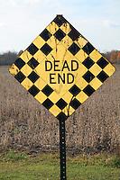 Dead End Sign circa 1960s