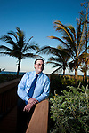 Attorney Marvin Kirshner photographed at his Boca Raton home for CFO magazine