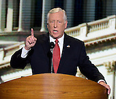 United States House Democratic Whip Steny Hoyer (Democrat of Maryland) makes remarks at the 2012 Democratic National Convention in Charlotte, North Carolina on Wednesday, September 5, 2012.  .Credit: Ron Sachs / CNP.(RESTRICTION: NO New York or New Jersey Newspapers or newspapers within a 75 mile radius of New York City)