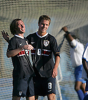 Tim Ward, left, and Michael Bradley, right, at the U.S. Under 20 Men's National Team Training Camp in Sunrise, FL, October 8-12 2006.