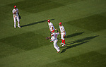 6 April 2015: Washington Nationals shortstop Ian Desmond shows the ball home after a fielding error in the 6th inning of the Home Opening Game against the New York Mets at Nationals Park in Washington, DC. The Mets rallied to defeat the Nationals 3-1 in their first meeting of the 2015 MLB season. Mandatory Credit: Ed Wolfstein Photo *** RAW (NEF) Image File Available ***