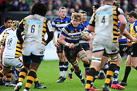 David Denton of Bath Rugby in possession. Aviva Premiership match, between Bath Rugby and Wasps on March 4, 2017 at the Recreation Ground in Bath, England. Photo by: Patrick Khachfe / Onside Images