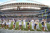 Sept 01, 2012:  Washington cheerleaders against San Diego State.  Washington defeated San Diego State 21-12 at CenturyLink Field in Seattle, Washington...