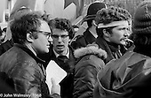 The speakers, anti-Vietnam war demonstration march from Trafalgar Sq to Grosvenor Sq Sunday 17th March 1968.  I was told the headband was a Vietnamese sign of mourning for dead children.