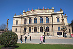 The Rudolfinum is a music auditorium in Prague, Czech Republic. It is designed in the neo-renaissance style and is situated on Jan Palach Square on the bank of the river Vltava
