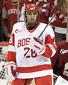 Sahir Gill (BU - 28) - The visiting Boston College Eagles defeated the Boston University Terriers 9-5 on Friday, December 3, 2010, at Agganis Arena in Boston, Massachusetts.