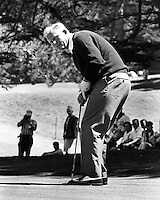 Jack Nicklaus putting during the U.S.Open at the Olympic Club in San Francisco, Ca. (1966 photo by Ron Riesterer)