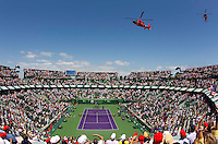 Fly past and national anthem at the finals of the men's singles..International Tennis - 2010 ATP World Tour - Sony Ericsson Open - Crandon Park Tennis Center - Key Biscayne - Miami - Florida - USA - Sun 4 Mar 2010..© Frey - Amn Images, Level 1, Barry House, 20-22 Worple Road, London, SW19 4DH, UK .Tel - +44 20 8947 0100.Fax -+44 20 8947 0117