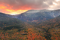 Mount Washington at Sunset during Peak Foliage in New Hampshire