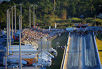 Jan. 20, 2012; Jupiter, FL, USA: Aerial view of the dragstrip at Palm Beach International Raceway during testing at the PRO Winter Warmup. Mandatory Credit: Mark J. Rebilas-