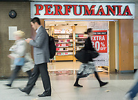 A Perfumania store in New York on Wednesday, April 26, 2017. According to a report by S&P Global Market Intelligence Perfumania is vulnerable to a bankruptcy or liquidation along with a number of other chains including Nine West, Claire's, Gymboree and the perennial favorite Sears Holdings. (© Richard B. Levine)