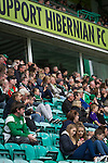 Hibernian 3 Alloa Athletic 0, 12/09/2015. Easter Road stadium, Scottish Championship. Home fans in the Famous Five stand watching the second-half action at Easter Road stadium during the Scottish Championship match between Hibernian and visitors Alloa Athletic. The home team won the game by 3-0, watched by a crowd of 7,774. It was the Edinburgh club's second season in the second tier of Scottish football following their relegation from the Premiership in 2013-14. Photo by Colin McPherson.