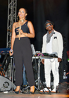 LOS ANGELES, CA -JULY 23: Singer Vivian Green and Kwamé performs at the 1st Annual Los Angeles Soul Music Festival at the Autry in Griffith Park on July 23, 2016 in Los  Angeles, California. Credit: Koi Sojer/Snap'N U Photos/MediaPunch