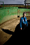 Portraits of Temple Grandin at Colorado State University.  Grandin is a Doctor of Animal Science best known for her work related to the humane treatment of livestock throughout their life and ultimate slaughter.  Her work in this area draws from her condition as a person with high-functioning autism; her visual sensitivities contribute to her research and ability to isolate things that stress livestock passing through factory lines and other stressful environments.